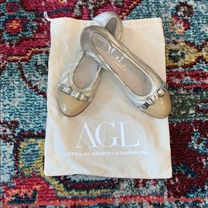 AGL nude ballet flats- excellent condition!⭐️